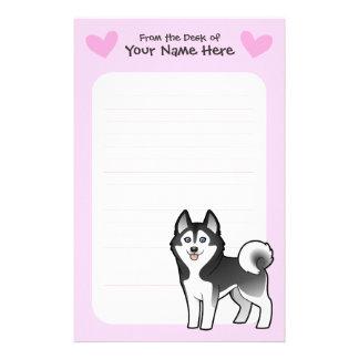 Amor del husky siberiano/del Malamute de Alaska Papelería Personalizada