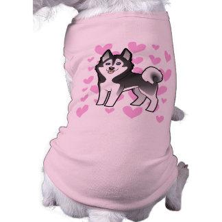 Amor del husky siberiano del Malamute de Alaska Camisetas De Mascota