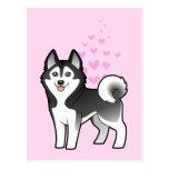 Amor del husky siberiano/del Malamute de Alaska Postales