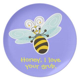Amor del _I de la abeja de Wing-Nutz™_Bumble Platos