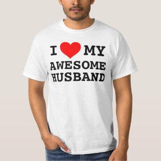 Amor del I de las mujeres mi marido impresionante Playera