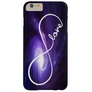 Amor del infinito con la nebulosa púrpura funda de iPhone 6 plus barely there