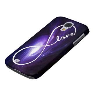 amor del infinito - nebulosa púrpura funda para galaxy s4