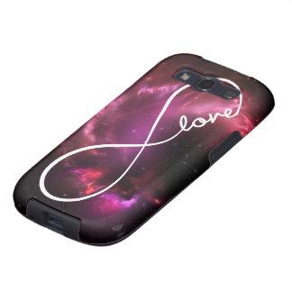 amor del infinito - nebulosa rosada galaxy s3 funda