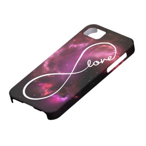 amor del infinito - nebulosa rosada iPhone 5 fundas