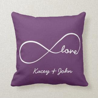 Amor del infinito - púrpura cojín