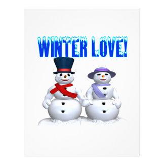 Amor del invierno tarjeta publicitaria