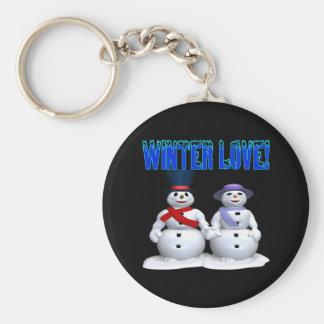 Amor del invierno llaveros personalizados