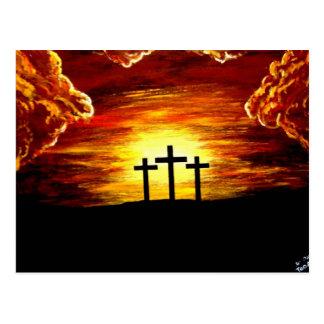 Amor del Jesucristo del crucifijo de la cruz de di Tarjetas Postales