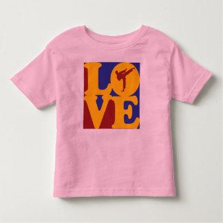 Amor del karate camisetas