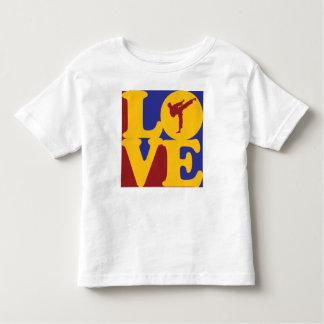 Amor del karate camiseta