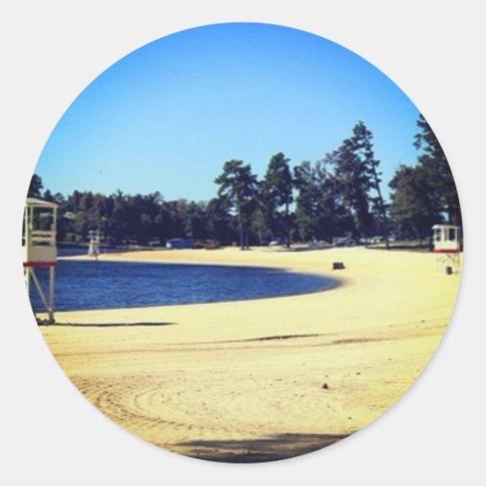 amor del lago pegatina redonda