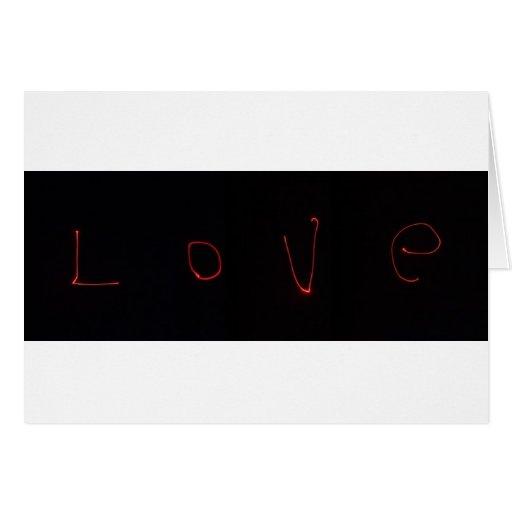 amor del laser tarjetas
