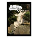 Amor del Lemur usted este día de padres mucho dive Tarjeta
