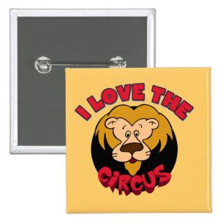 Amor del león I las camisetas y los regalos del ci Pin Cuadrada 5 Cm