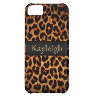 Amor del leopardo personalizado funda para iPhone 5C
