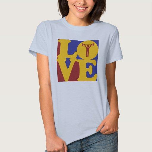 Amor del levantamiento de pesas t-shirt