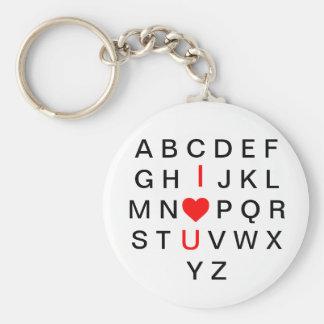 Amor del llavero del alfabeto