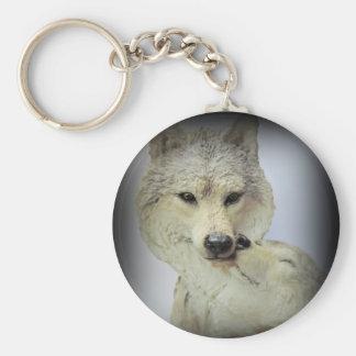 Amor del lobo llavero redondo tipo pin