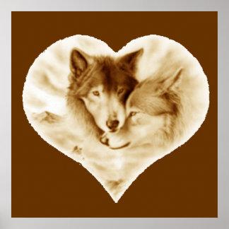 Amor del lobo póster