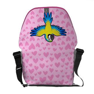 Amor del Macaw/del loro Bolsas De Mensajería