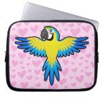 Amor del Macaw/del loro Fundas Portátiles