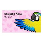 Amor del Macaw/del loro Tarjeta De Negocio