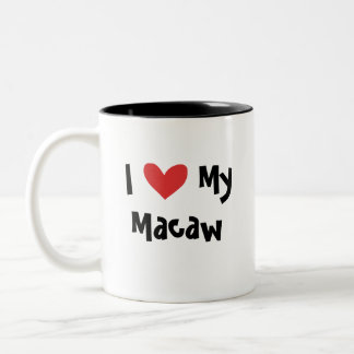 Amor del Macaw/del loro Taza De Dos Tonos