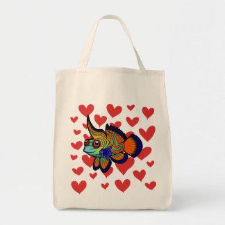 Amor del mandarín de los pescados de Dragonet Bolsas De Mano