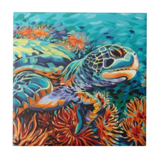 Amor del mar I Azulejo Cuadrado Pequeño