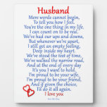 Amor del marido placas de madera
