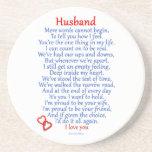 Amor del marido posavasos personalizados