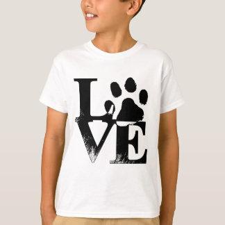 Amor del mascota - impresión de la pata playera