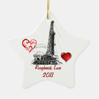Amor del matón adorno navideño de cerámica en forma de estrella