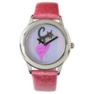Amor del maullido reloj