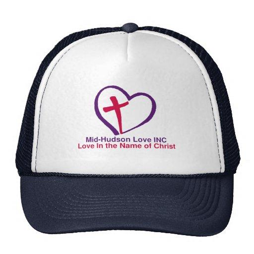 Amor del Mediados de-Hudson en nombre de Cristo Gorra