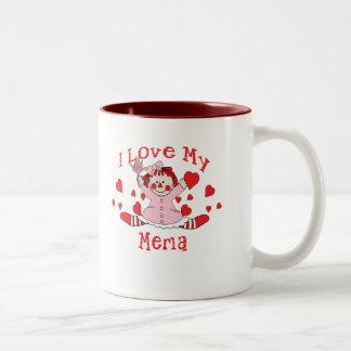 amor del memaI del amor del ra mi muñeca y Taza De Café De Dos Colores