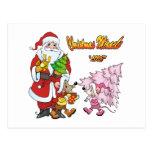 Amor del milagro del navidad postal