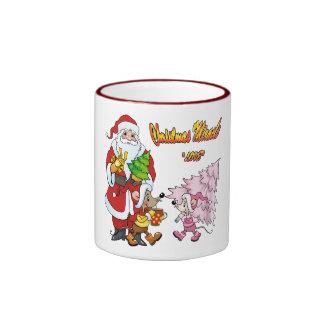Amor del milagro del navidad tazas de café