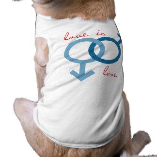 Amor del mismo sexo (varón) camisa de perro