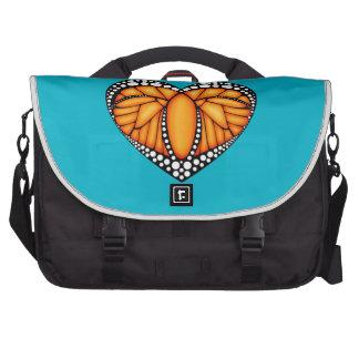 Amor del monarca bolsas de portatil