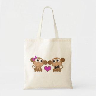 Amor del mono bolsa tela barata