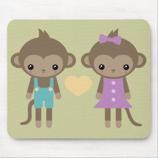Amor del mono del calcetín alfombrilla de raton