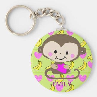 Amor del mono - personalizado llavero redondo tipo pin