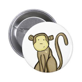 amor del mono pin redondo de 2 pulgadas
