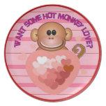 Amor del mono plato de comida