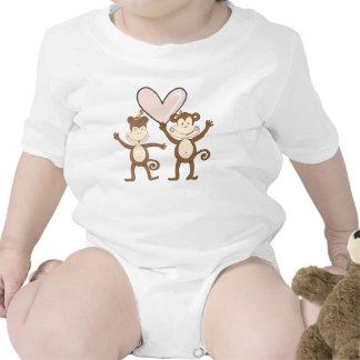 Amor del mono traje de bebé