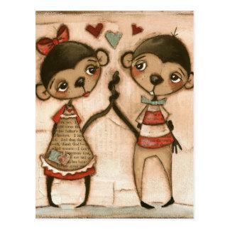 Amor del mono - postal