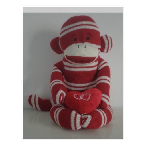 Amor del mono postales