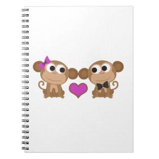 Amor del mono spiral notebooks